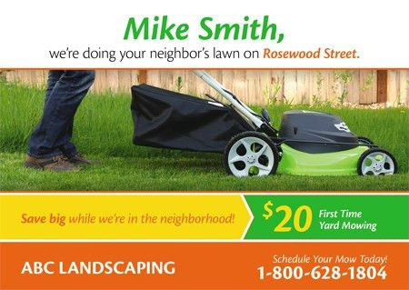 Proven Landscape and Lawn Care Marketing | PostcardMania