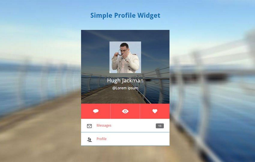 simple Profile Widget Responsive Template by w3layouts