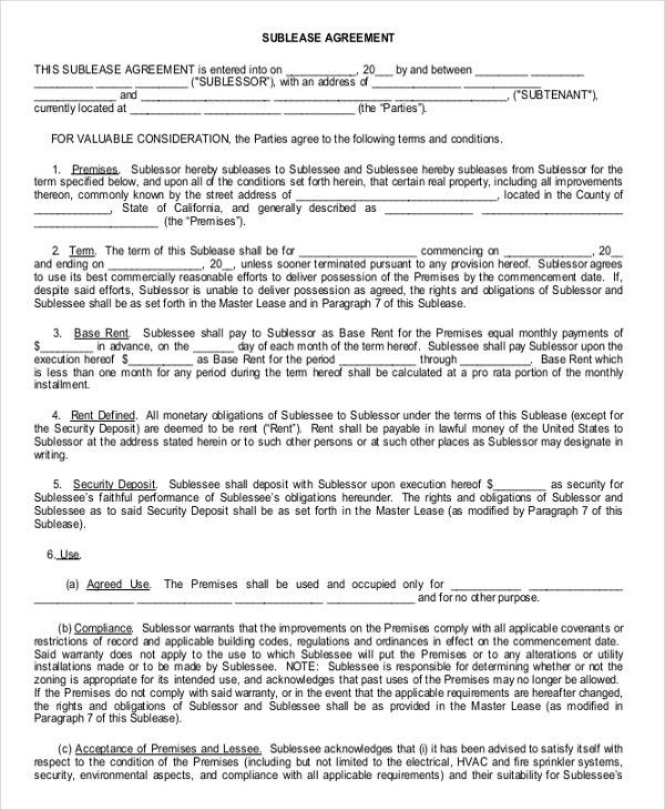 10+ Enterprise Rental Agreement Templates – Free Sample, Example ...