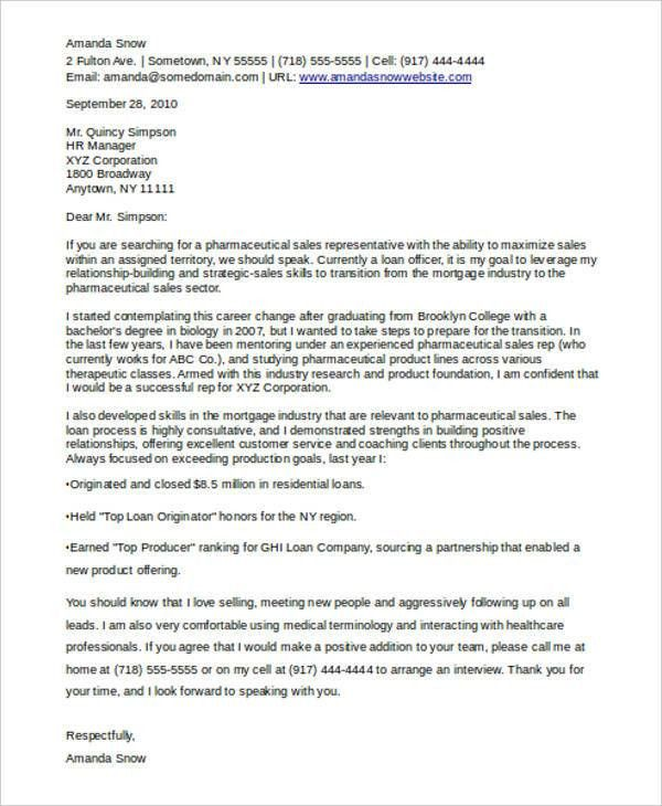 Career Change Cover Letters - 7+ Free Word, PDF Format Download ...