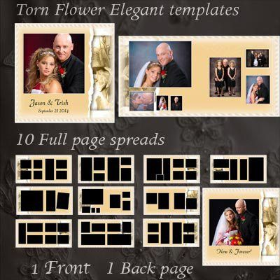 wedding album templates - Create custom wedding photo books