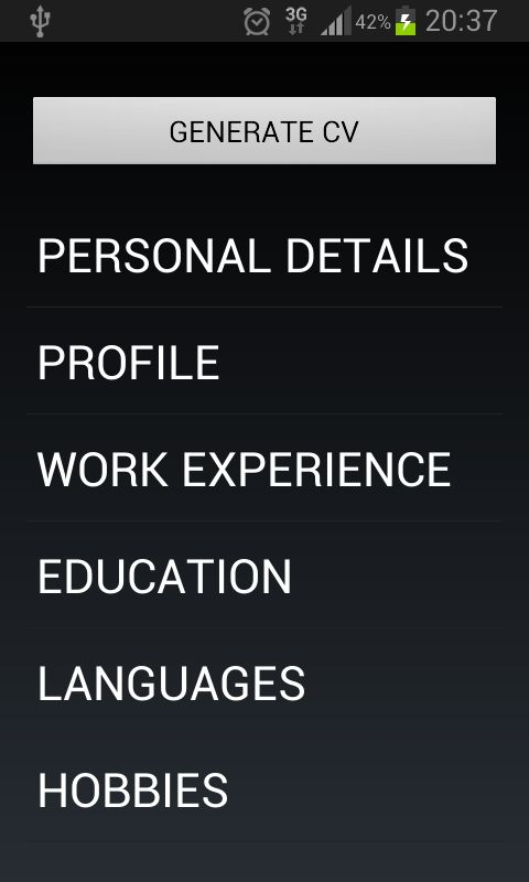 Curriculum Vitae - Android Apps on Google Play