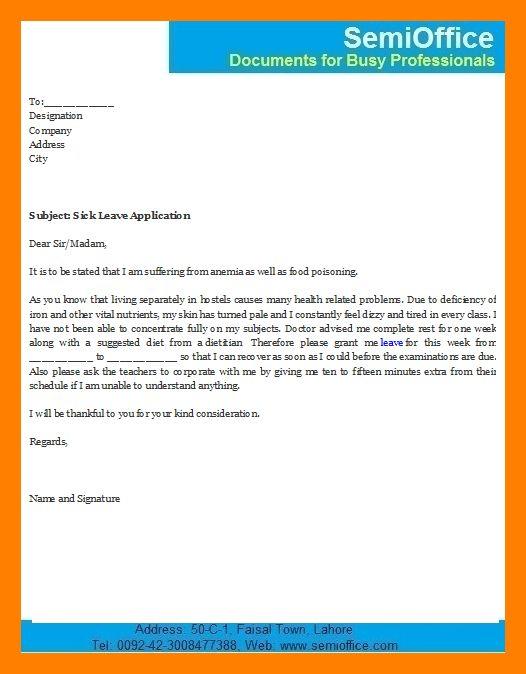11+ application for sick leave | sales resumed