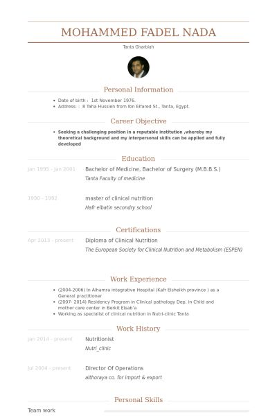 dietitian resume template nutritionist resume samples, Renal ...