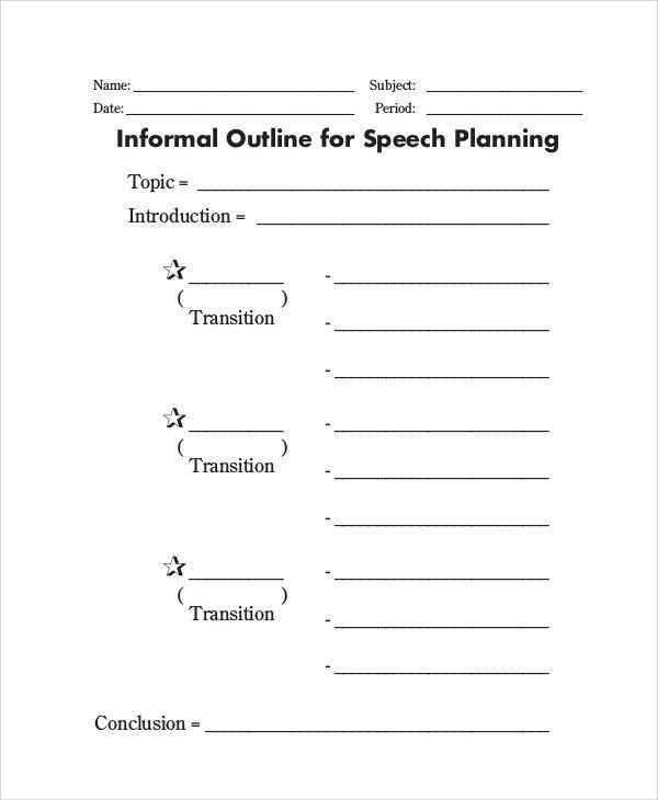 Sample Outline - 15+ Examples in PDF, WORD, PPT