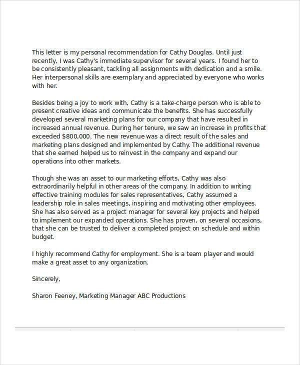 27+ Sample Recommendation Letter Templates | Free & Premium Templates