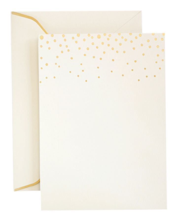Gartner Studios Formal Invitations And Envelopes Gold Foil Dots ...
