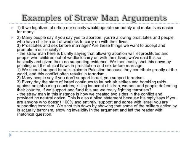 Straw Man Arguments