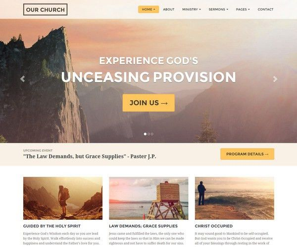 30+ Church Bootstrap Templates