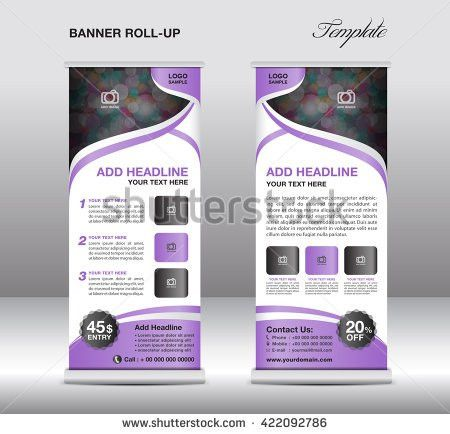 Red Roll up banner stand template, advertisement, flyer design ...