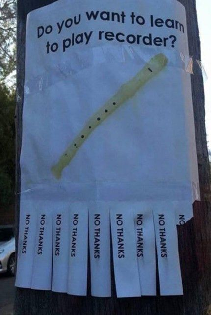 No Thanks : The Weirdest Tear-Off Flyers Of All Time | Obsev