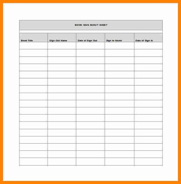 7+ sign out sheet template | exclusive resumes