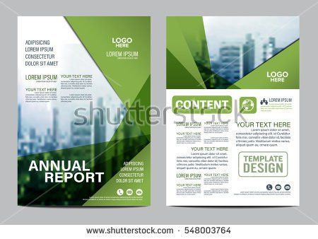 Flyers Design Template Vector Brochure Report Stock Vector ...