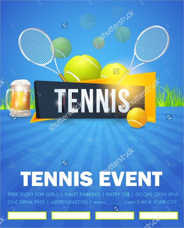 15+ Tennis Flyer Templates - Free PSD, AI, Vector, EPS Format ...