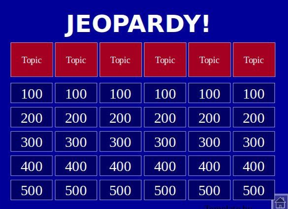 Jeopardy Template Powerpoint Download - Metlic.info