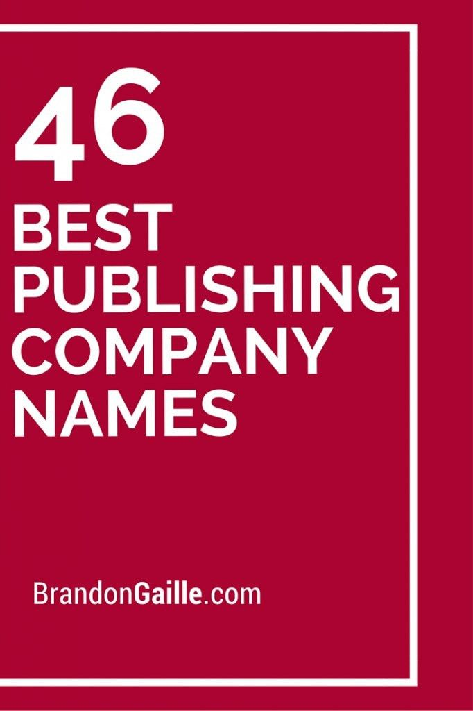46 Best Publishing Company Names | Catchy slogans and Busy busy