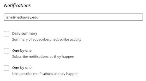 Create a New List | MailChimp