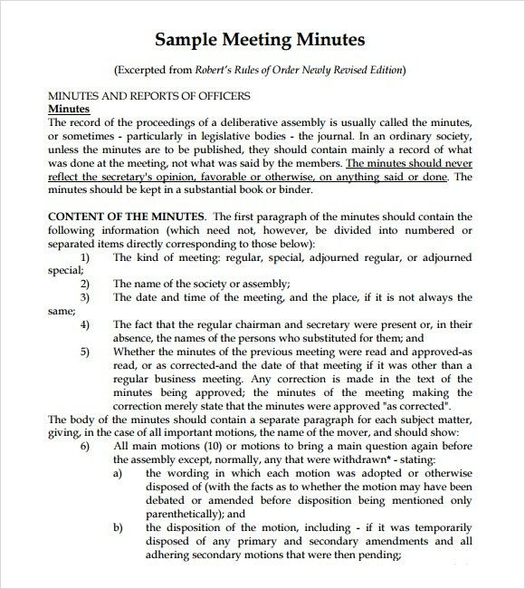 Meeting Memo Template. Sample Notice Of Meeting Memo Free ...