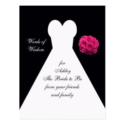 Words of Wisdom for Marriage Post Cards | Zazzle.com