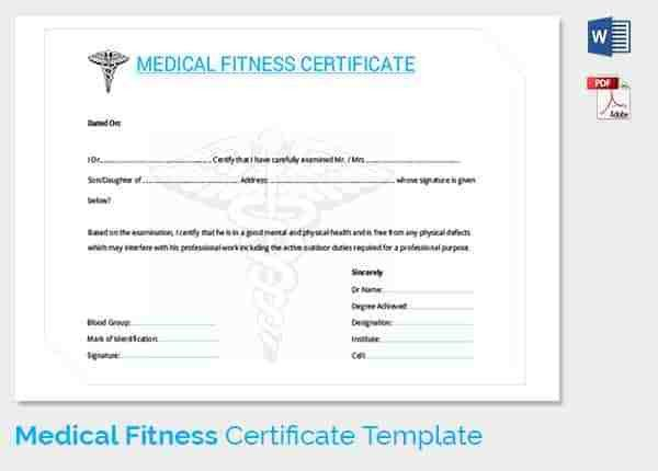 Medical Certificate Template - 20+ Free Word, PDF Documents ...