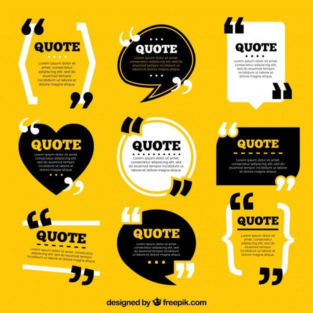 Collection of vintage style quote template Vector | Free Download
