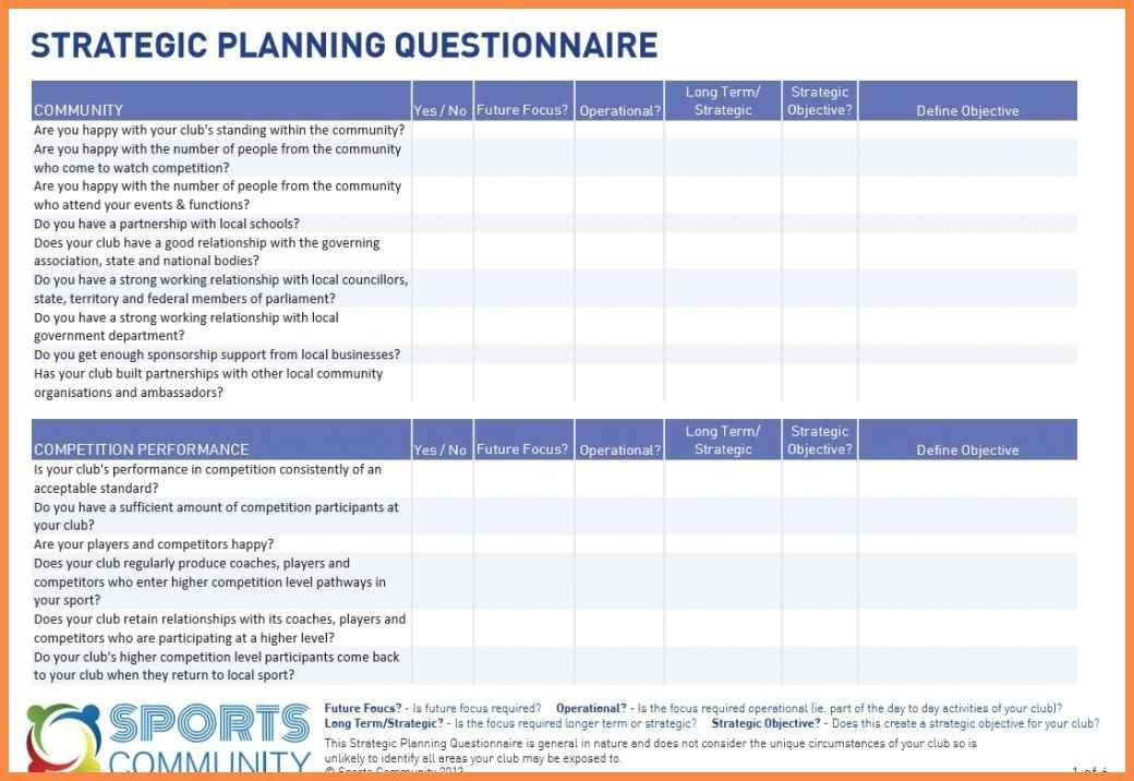 Church Strategic Planning Template - Contegri.com