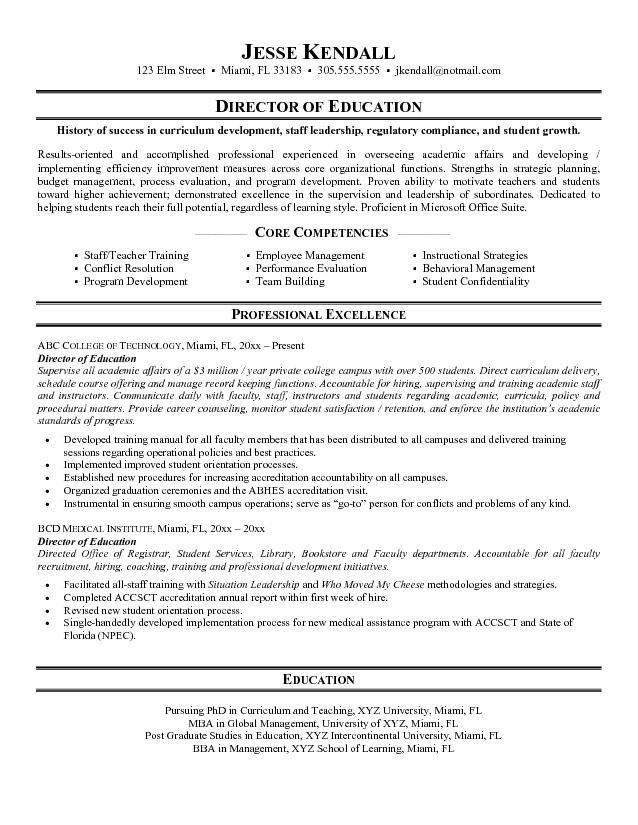 Education Sample Resume | jennywashere.com