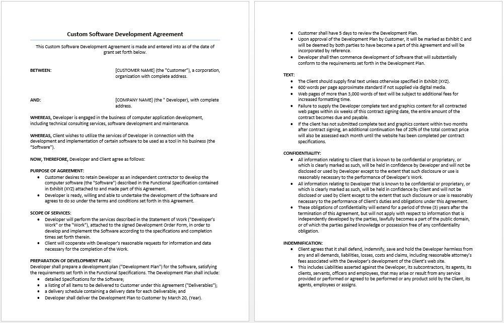 Sales Representative Agreement Template | Microsoft Word Templates