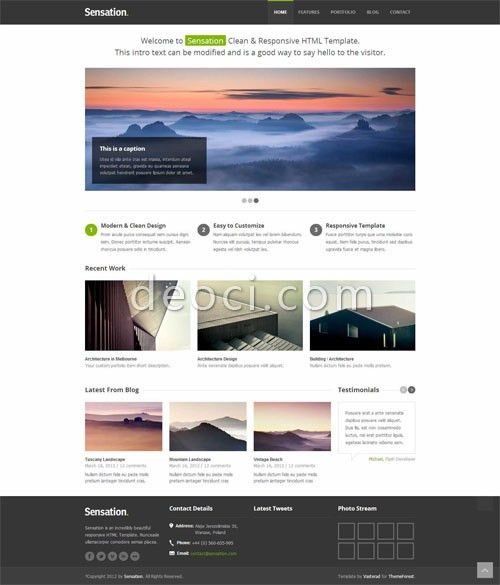 2012 best concise picture show HTML CSS website design templates ...