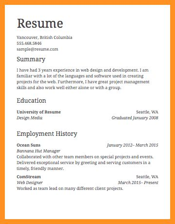 6+ job resume format - application leter