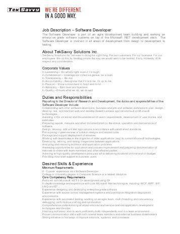 App Developer Job Description. ios developer job description ...