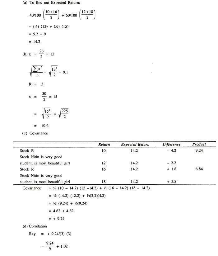 Calculation of Coefficient of Correlation (With Formula)