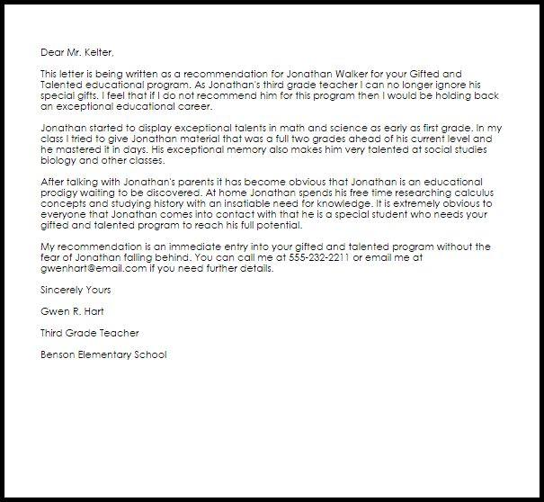 19+ [ Teacher Cover Letter ] | Recommendation Letter For Student ...