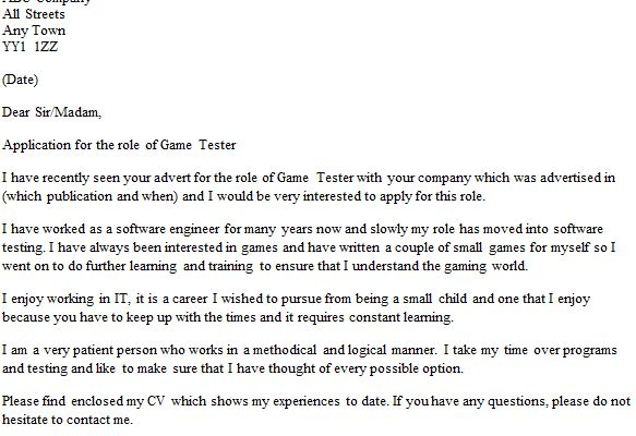 computer game tester cover letter sustainability coordinator cover ...