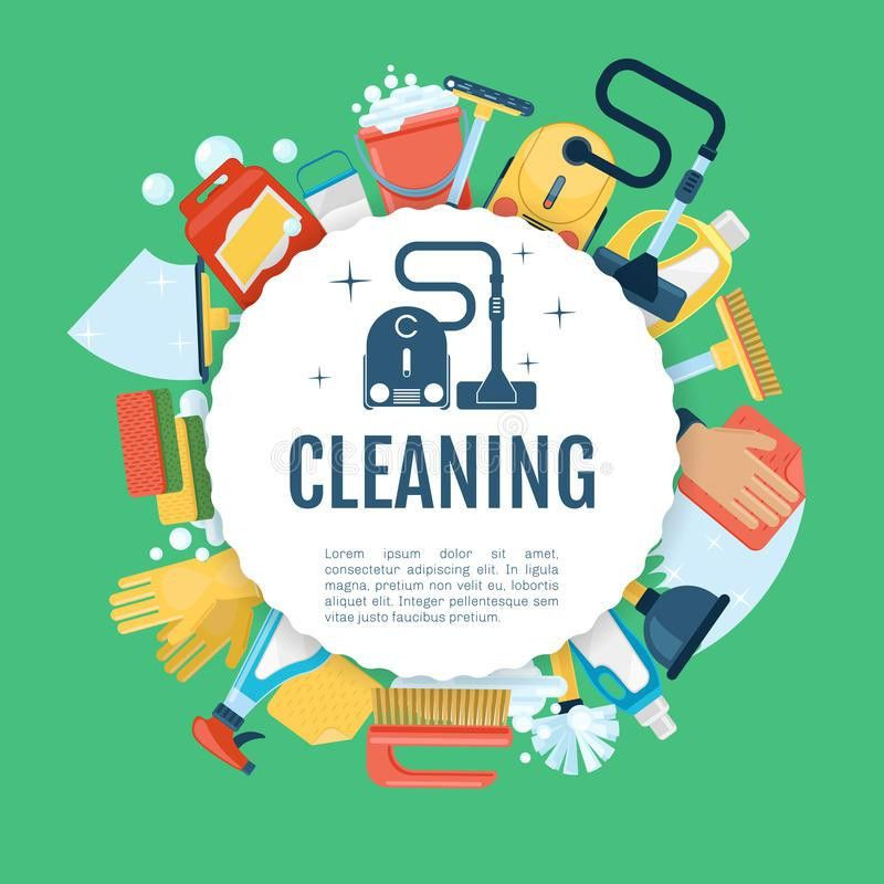 House Cleaning Poster. Vector Home Services Template With ...