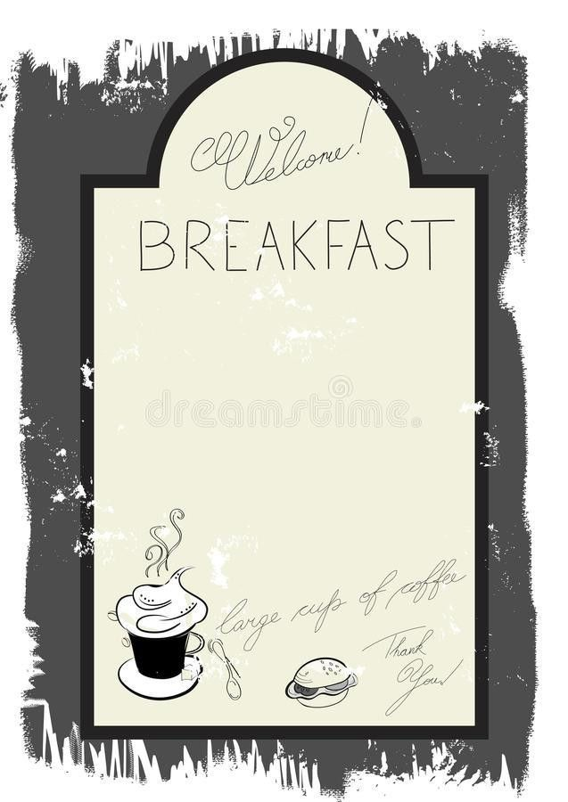 Template For Breakfast Menu Royalty Free Stock Photography - Image ...