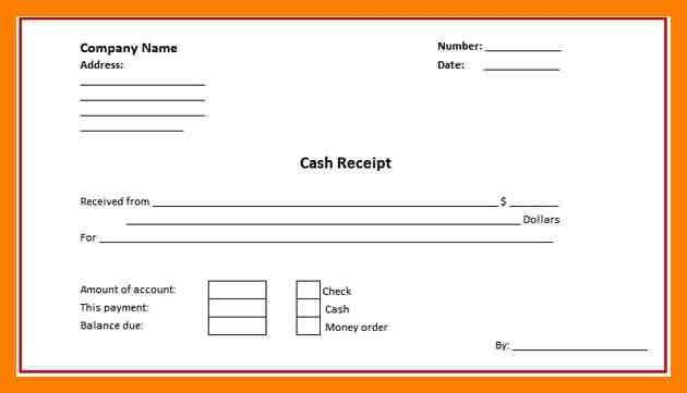 11+ blank cash receipt   protect letters