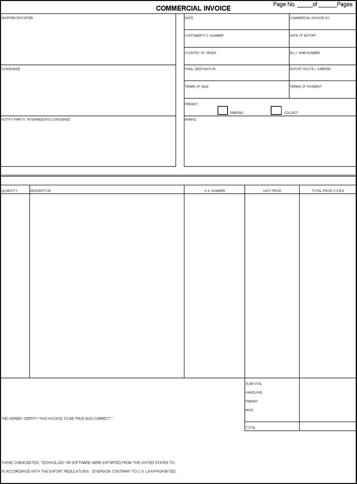 Download Commercial Invoice Template | rabitah.net