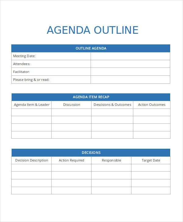 Agenda Template - 35+ Free Word,PDF Document Download | Free ...
