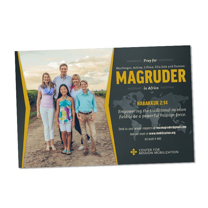 A Design Team for Missionaries offering missionary prayer cards ...