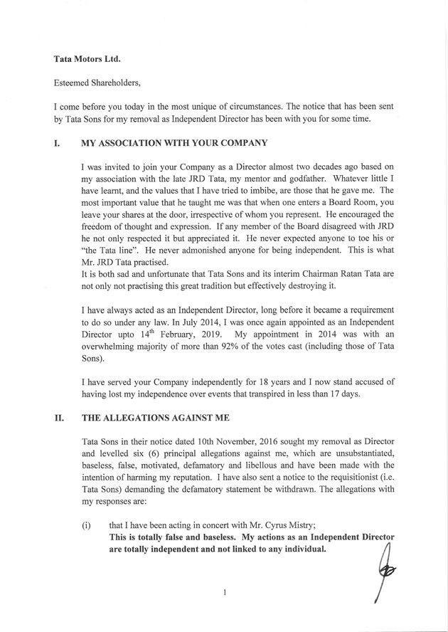 Angry Nusli Wadia shoots off letter to Tata Motors shareholders ...