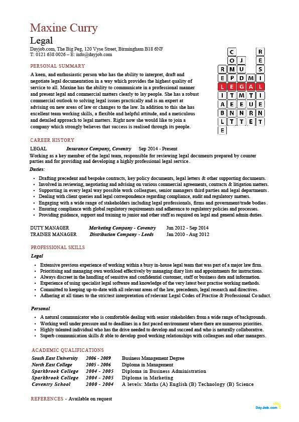 Use these legal CV templates to write a effective resume to show ...