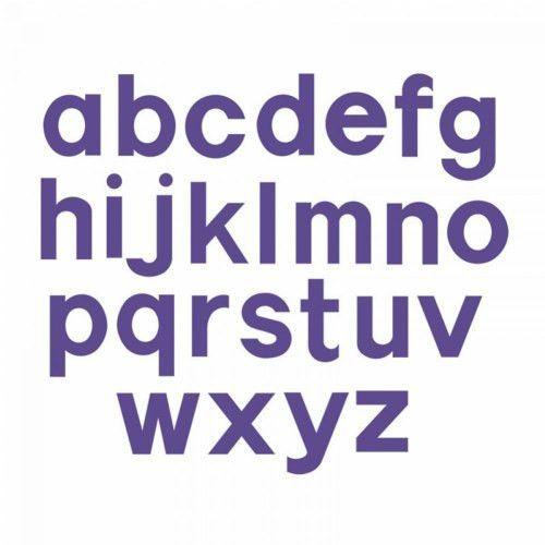 """Bigz Dies - 3 1/2"""" Lowercase Block Letters (Set of 23)"""