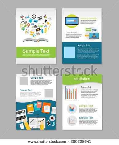 Flyer Design Business Brochure Template Annual Stock Vector ...