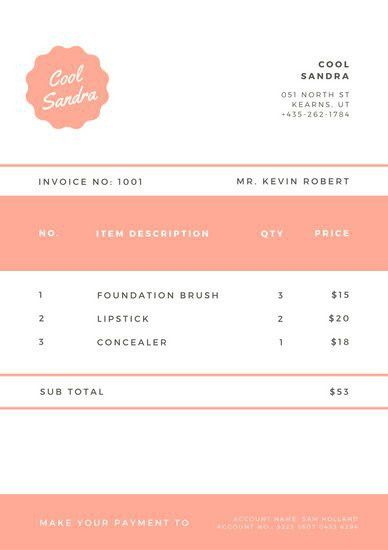 Grey and White Minimalist Invoice Letterhead - Templates by Canva
