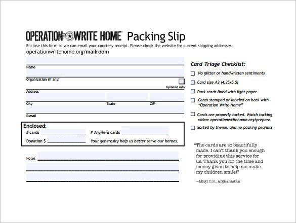 Packing Slip Format Free Packing Slip Template For Excel And Google