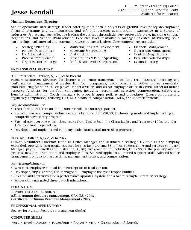 Human Resources Generalist Resumes Examples. hr generalist resume ...