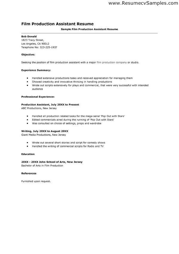 film production cover letter resume cv cover letter. production ...