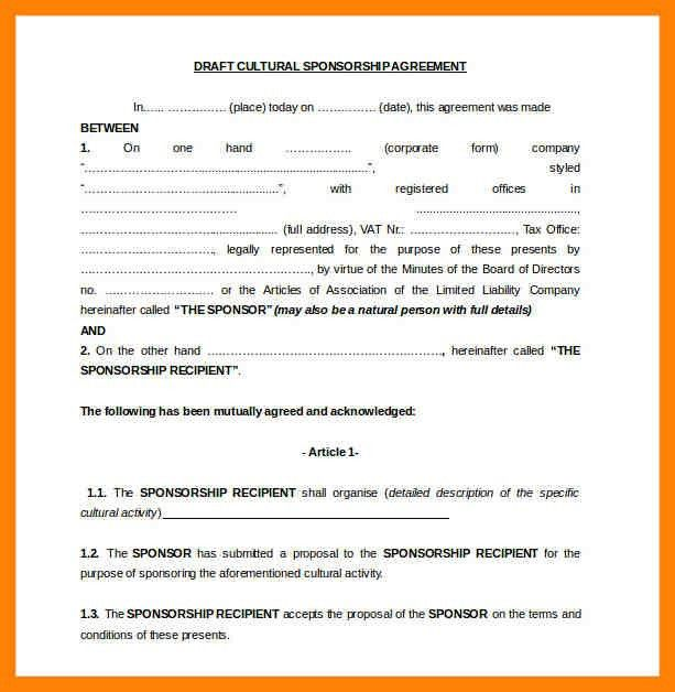 6+ sponsorship contract | cv for teaching