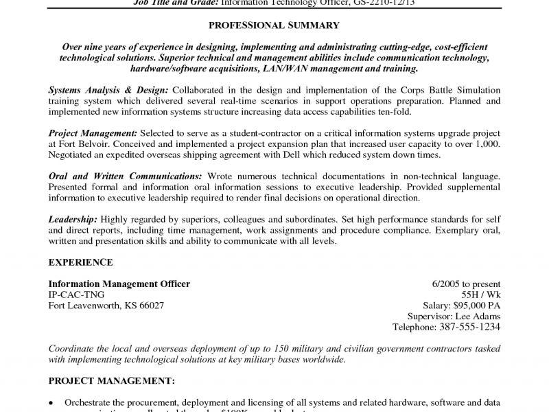 Army Resume - Resume Example